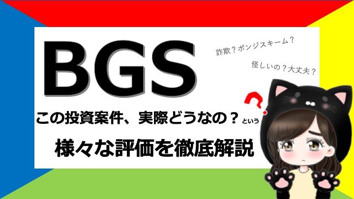 BGSって実際どうなのよ?口コミや評判を検証してみました(2021年6月更新)